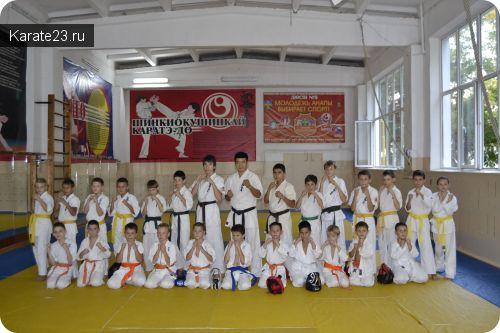 Клуб Самурай в новом зале тренируется