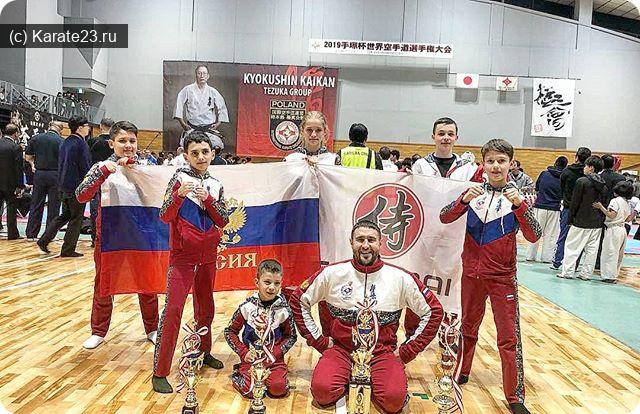 Турниры: Результаты Самураев на Мировом первенстве в Японии по Киокушинкай каратэ