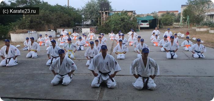 Мероприятия: Ли Артур провел мастер-класс на сборах липецких каратистов в Веселовке 28 июля  2020